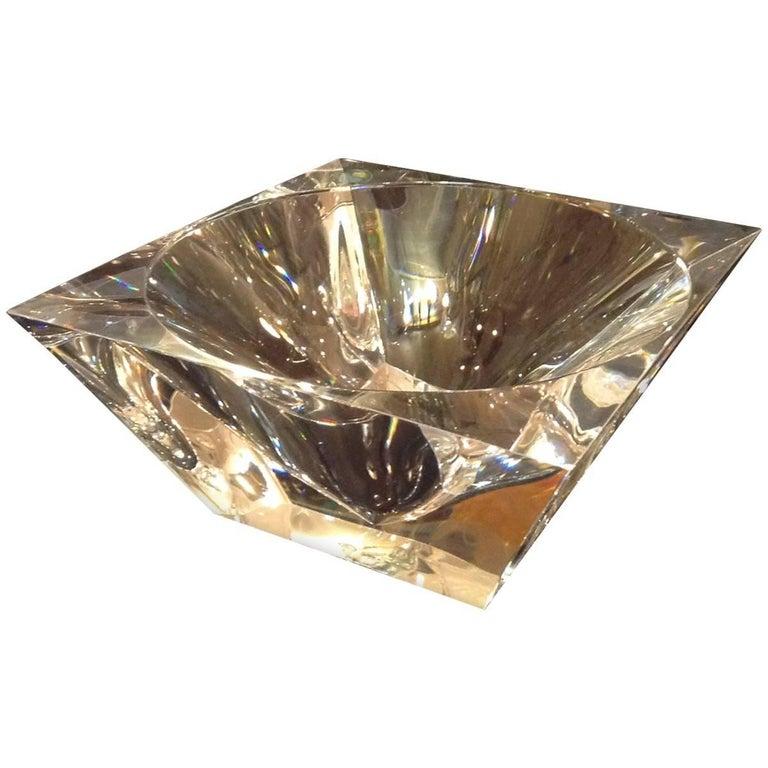 Modernistic Lucite Diamond Bowl