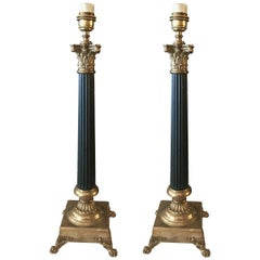 Collection of Tommy Hilfiger Empire Style Table Lamps