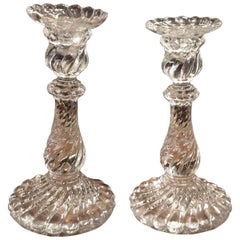 Baccarat Antique Crystal Pair of Candlesticks