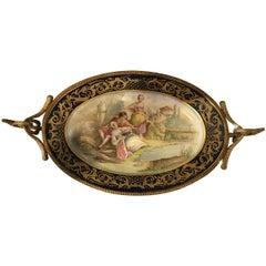 Late 19th Century Sèvres Style Porcelain Gilt Bronze Mounted Centrepiece