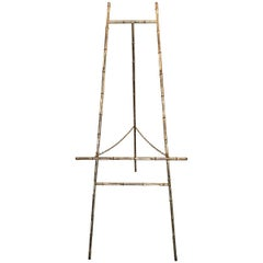 Late 19th Century Continental Gilt Metal Faux Bamboo Tall Easel