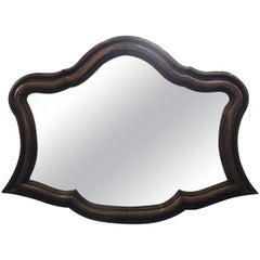 19th Century Antique Large Sculptural Walnut Mirror