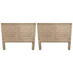 Mid-Century Modern Style Lacquered Nightstands