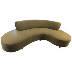 Mid-Century Modern Serpentine Sofa