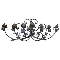 Wrought Iron Seven-Candlelight Wall Sconce Candleholder
