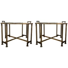 Pair of Italian Octagon Side Tables Coffee Tables, Late-20th Century