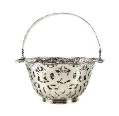Tiffany & Co. Makers Sterling Silver Flower Basket #16201, John C. Moore