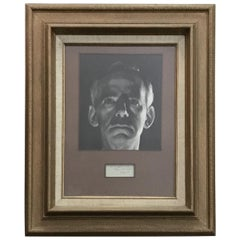 Eugene O'Neill Photograph and Autograph Giltwood, Paper