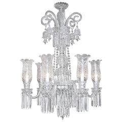 Monumental Bohemian Crystal Two-Tier Chandelier