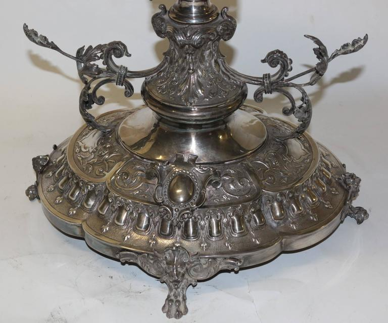 19th Century English Silver Centrepiece For Sale 4