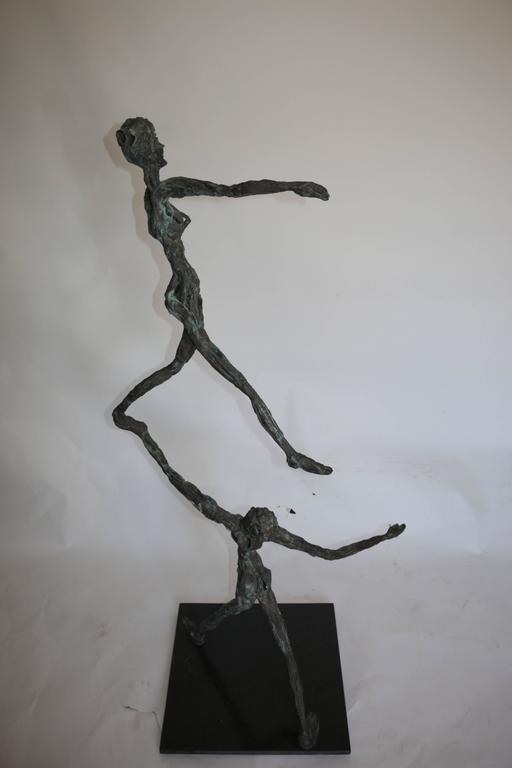Unknown Large Mid-Century Modern Figurative Brutalist Bronze Sculpture For Sale