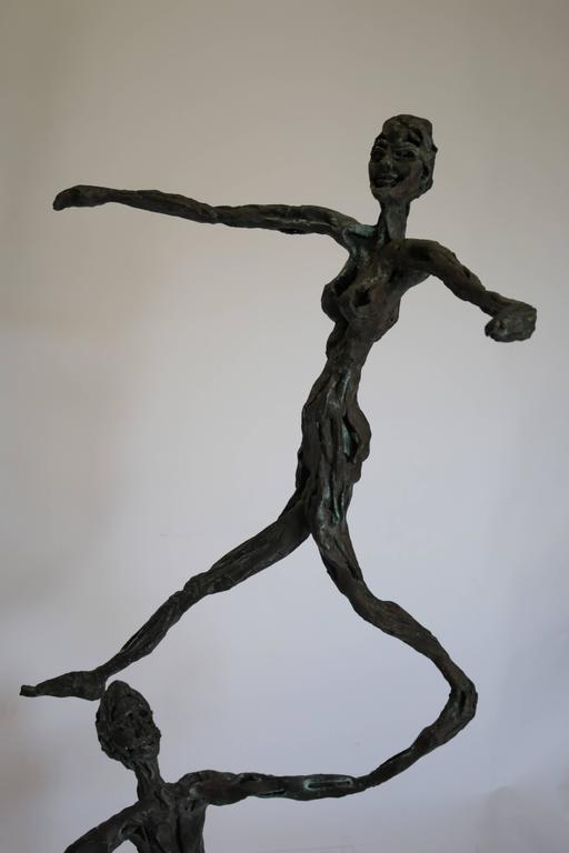 Large Mid-Century Modern Figurative Brutalist Bronze Sculpture In Excellent Condition For Sale In Pasadena, CA