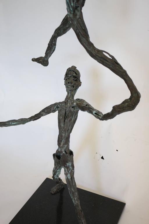 Large Mid-Century Modern Figurative Brutalist Bronze Sculpture For Sale 3