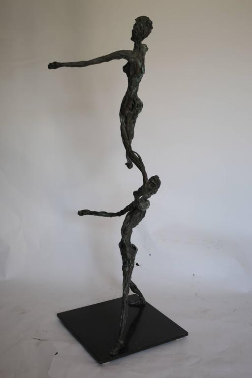 Large Mid-Century Modern Figurative Brutalist Bronze Sculpture For Sale 4
