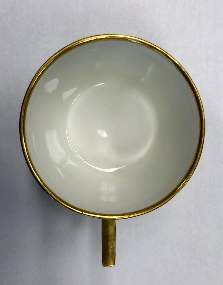 18th Century Vienna Porcelain Cup and Saucer For Sale 2