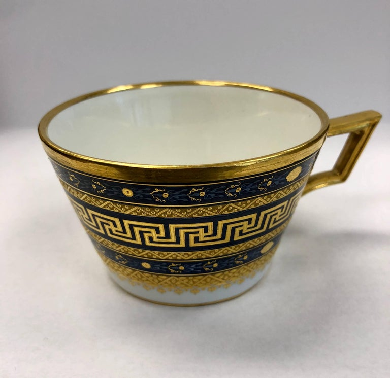 18th Century Vienna Porcelain Cup and Saucer For Sale 1