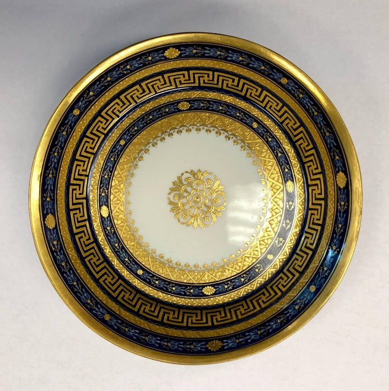 18th Century Vienna Porcelain Cup and Saucer For Sale 3