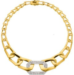 Diamond, Gold Necklace, Italian by Designer Nava Nencini