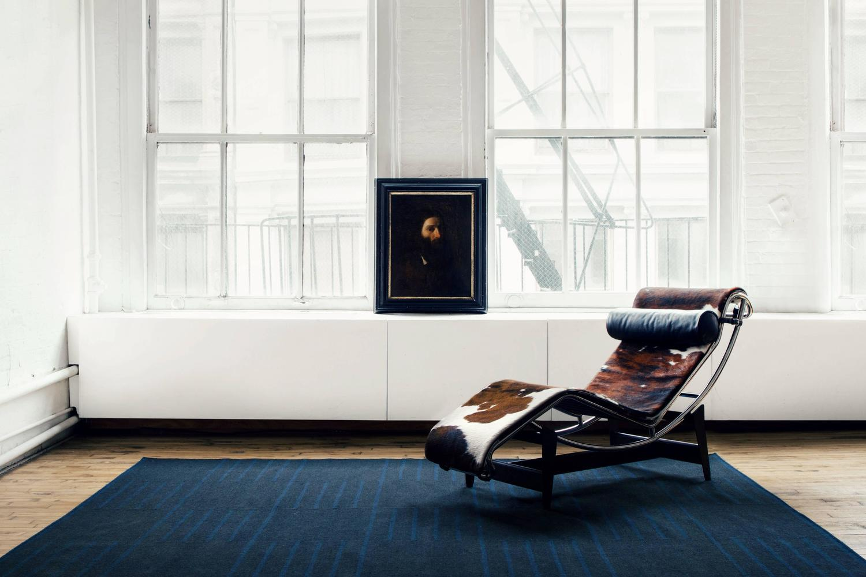Modern Dhurrie Kilim Rug In Swedish Design Classic Charcoal Teal 9 39 X12 39 For Sale At 1stdibs
