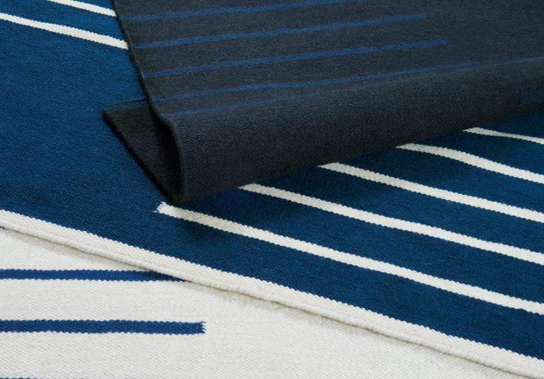Modern Dhurrie Kilim Rug In Swedish Design Classic Cream
