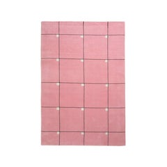 Modern Pink, Wool Cut Pile Rug in Scandinavian Design