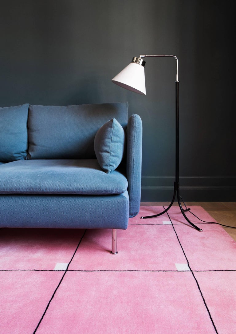 Modern - pink. The timeless elegance of an early 20th century Swedish design inspired this collection. We'd like to think of it as a piece of art, for your floor to give your room a modern touch.  This plush cut-pile rug is made with 100% New