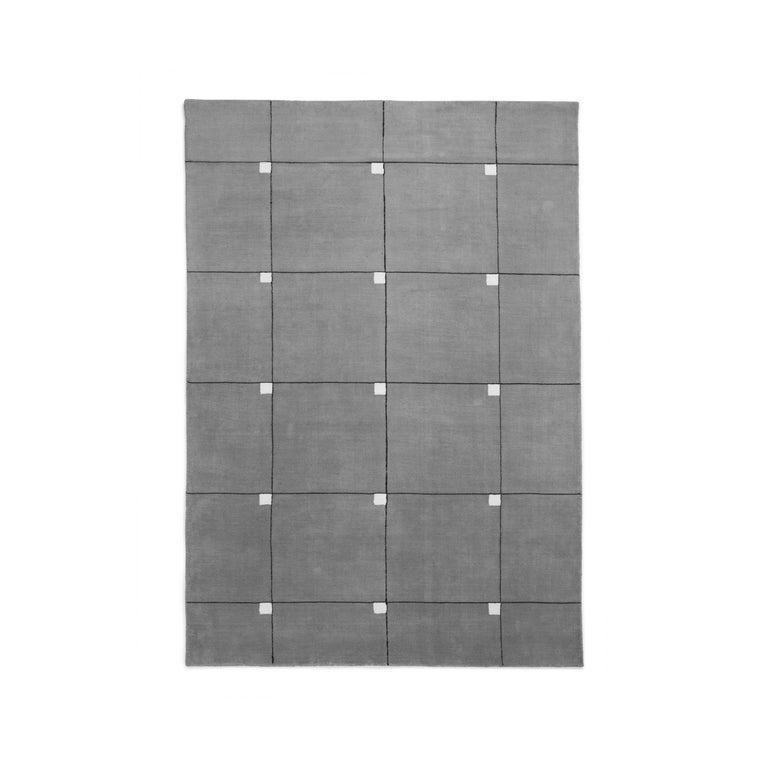 Modern Scandinavian Rug: Modern Gray, Wool Cut Pile Rug In Scandinavian Design For