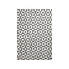 Mosaik Gray, Modern Dhurrie/Kilim Rug in Scandinavian Design