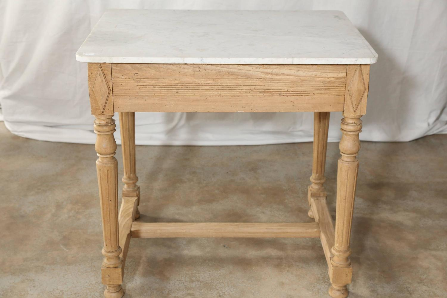 Butcher Table With Marble Work Surface For Sale At 1stdibs