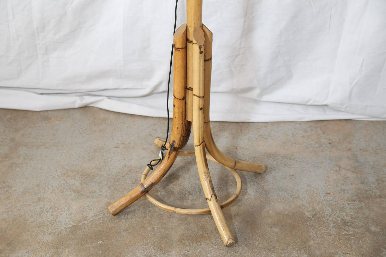Vintage Rattan Floor Lamp For Sale At 1stdibs