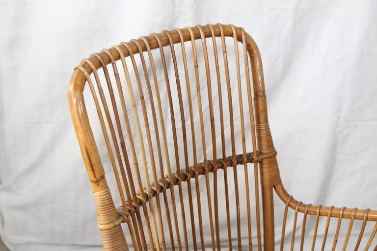Pair of Vintage Rattan Chairs In Good Condition For Sale In Houston, TX