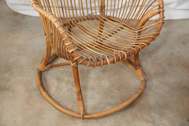 20th Century Pair of Vintage Rattan Chairs For Sale
