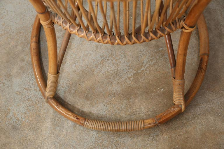 Pair of Vintage Rattan Chairs For Sale 2