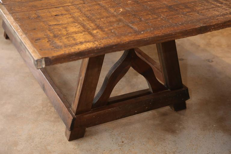 Rustic Table From French Bricklayers Pallets At 1stdibs