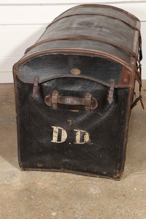 20th Century Au Depart Leather Trunk For Sale
