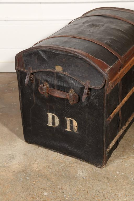 Au Depart Leather Trunk For Sale 4