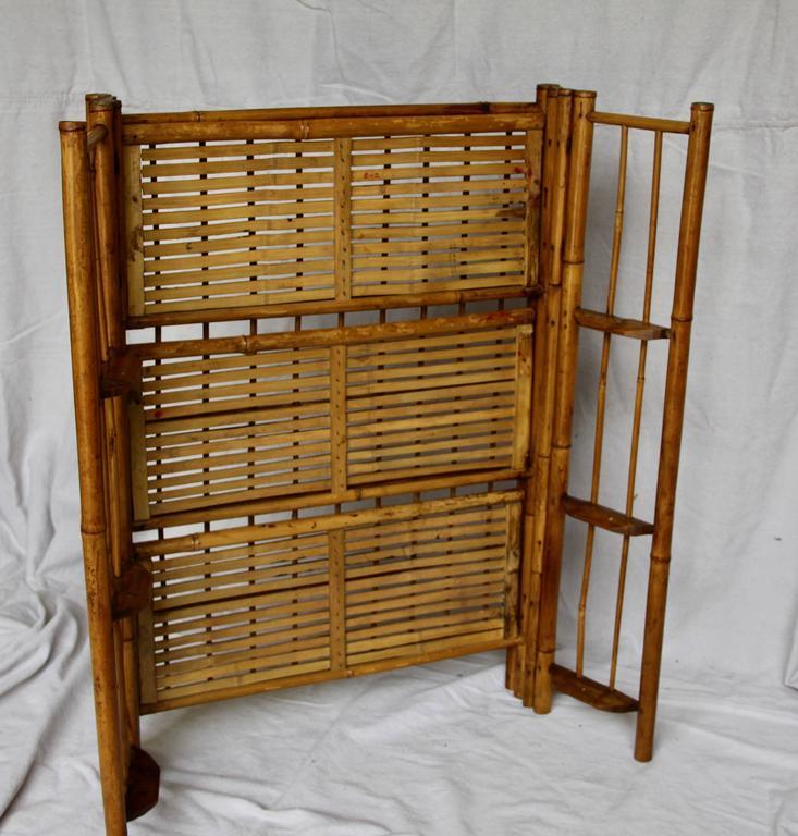 Folding Bamboo Shelf At 1stdibs