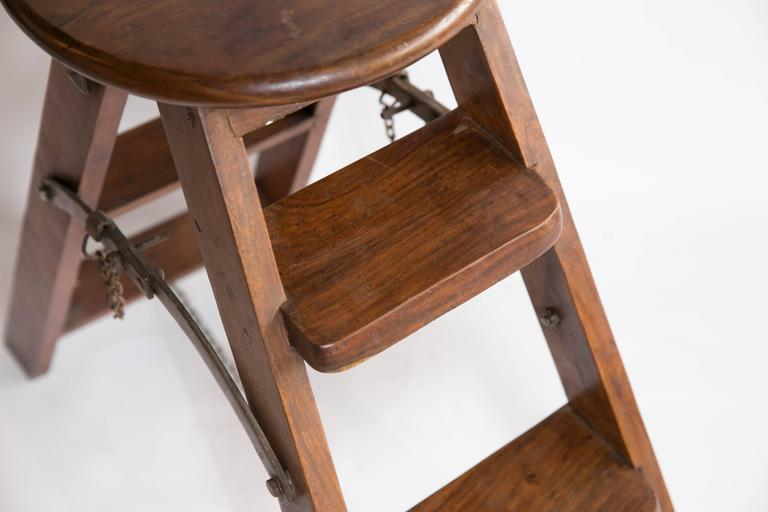 Vintage Step Stool Or Library Ladder At 1stdibs