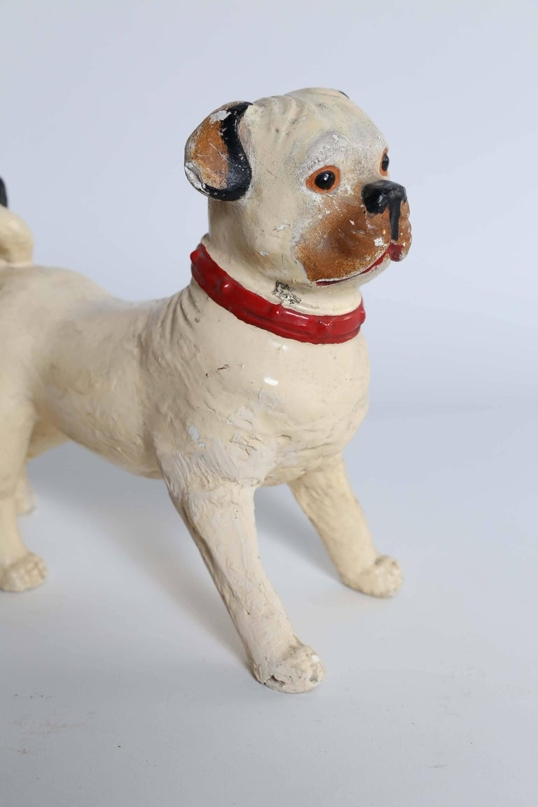 French Statue of Pug Dog For Sale