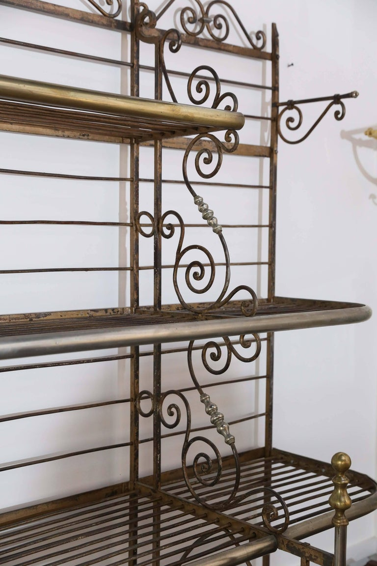 20th Century Antique French Bakers Rack For Sale