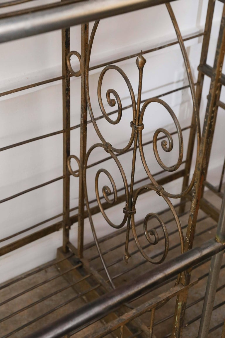 Brass Antique French Bakers Rack For Sale