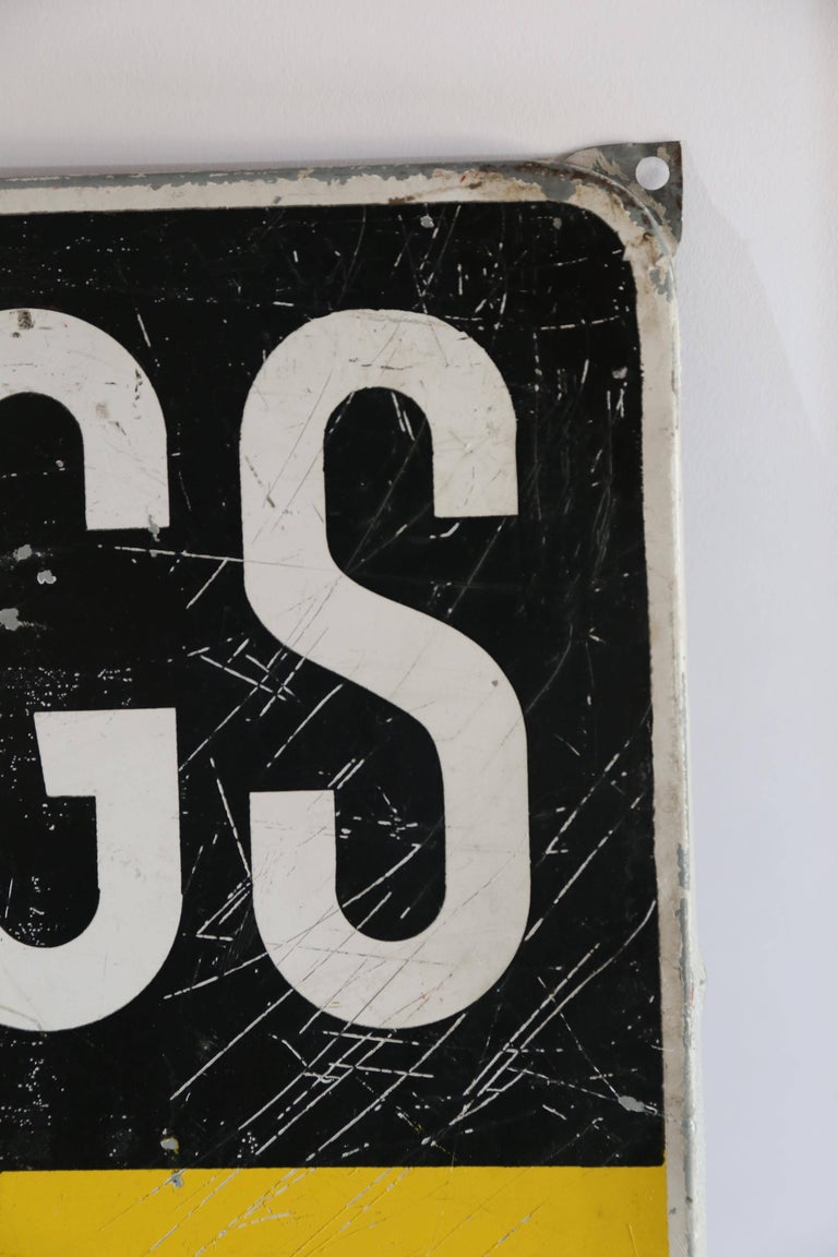 Dutch Konings Gist Advertising Sign, circa 1950 In Good Condition For Sale In Houston, TX