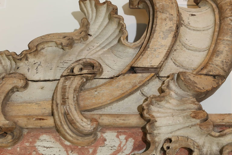 Wood French Architectural Element For Sale