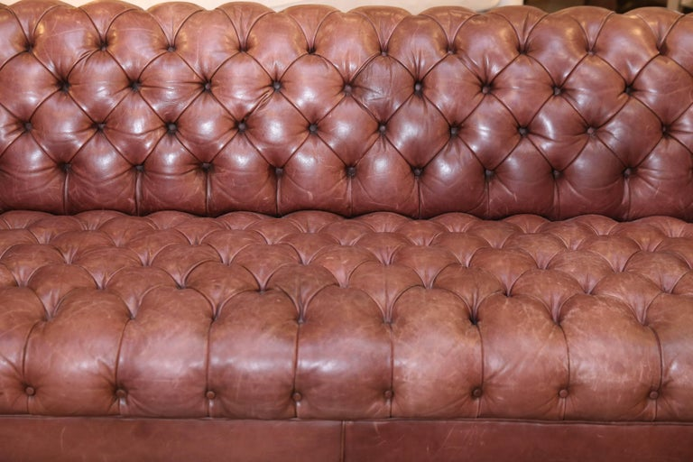 Leather Chesterfield Sofa In Good Condition For Houston Tx