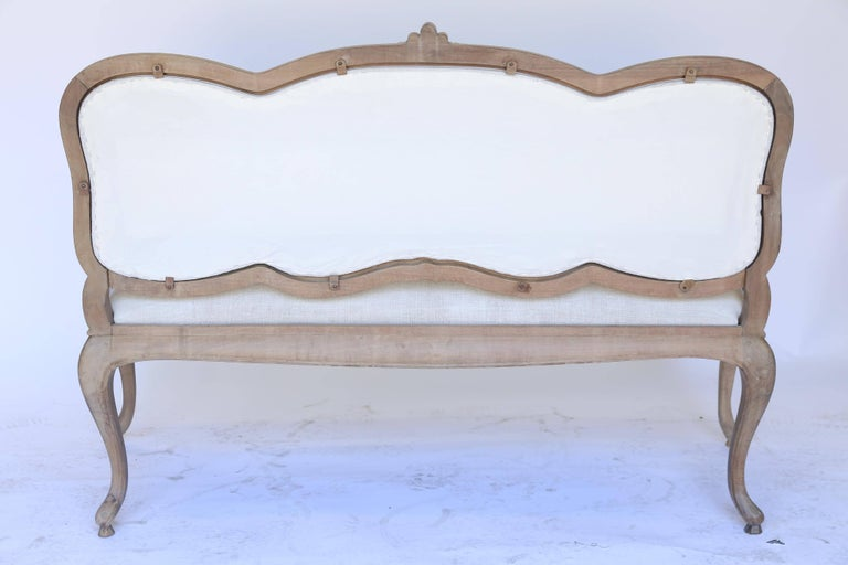 Antique French Bench, Newly Upholstered For Sale 2