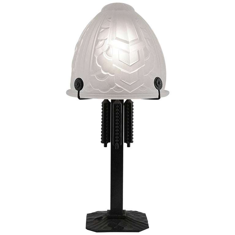 French Art Deco Table Lamp by Sevb and Fag, 1925