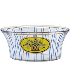 French Art Deco Glass Bowl or Vase, 1910s