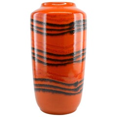 Large Vintage Ceramic Vase, Germany, Early 1970s, Possibly Lamp