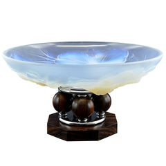 Etling French Art Deco Opalescent Glass Centre Bowl, 1930s