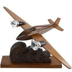 French Art Deco Airplane by Art Bois, 1935